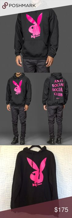 9e4e1ab0e4c3 ASSC x Playboy Hoodie Authentic Limited Edition Anti Social Social Club  ASSC x Playboy hoodie size
