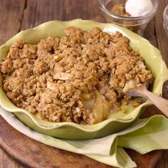 """I must give myself a """"pat on the back"""" for this one: my delicious apple crisp ( 8 fresh applets) Apple Desserts, Just Desserts, Delicious Desserts, Dessert Recipes, Fall Desserts, David Venable, Good Food, Yummy Food, Apple Crisp Recipes"""