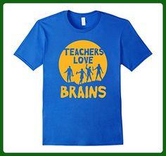 Mens Teachers Love Brains Zombie Halloween T Shirt 2XL Royal Blue - Careers professions shirts (*Amazon Partner-Link)