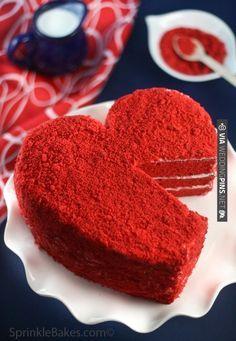 Red Velvet Heart Wedding Cake |  http://www.shopprice.com.au/cake