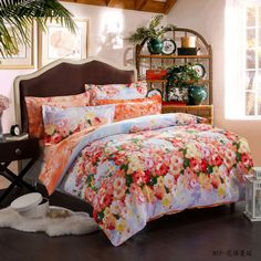 Brushed 4pcs Bedding Sets Duvet Cover,sheet,pillowcases Bed Linens