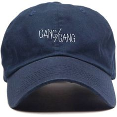 By Any Memes The Gang Gang Cap in Navy ($30) ❤ liked on Polyvore featuring men's fashion, men's accessories, men's hats, navy and mens caps and hats