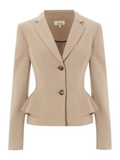 Linea Peplum jacket Natural - House of Fraser