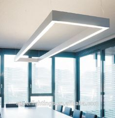Aluminum silver led tube light office hanging light