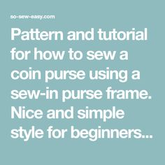 Pattern and tutorial