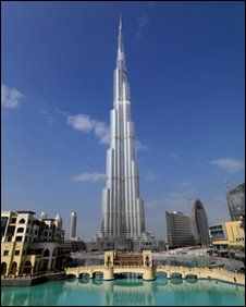 The world's tallest building is in Dubai, site of the next Men's World Cup. It is 2,716 ft. high.
