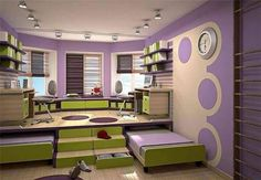 Build a Platform and Use It as an Activity Area and Tuck in Trundle Beds Underneath It to be Rolled Away When not Needed ideas for small rooms for boys for kids space saving 6 Space Saving Furniture Ideas for Small Kids Room - Page 2 of 3
