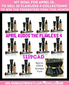 ➡WHO'S READY TO GET THE FLAWLESS 4??⬅ SEND ME A PM WITH A SELFIE OF YOURSELF IN NATURAL LIGHT (INFRONT OF WINDOW) & I'LL BE ABLE TO COLOR MATCH YOU FOR OUR FOUNDATION & OUR CONSEALER  IF YOU THINK YOU KNOW WHAT COLOR YOU'D BE POP OVER TO MY WEBSITE AND TAKE A PEEK www.youniqueproducts.com/MichelleBudd   #Younique #YellowStatusPresenter #FlawlessFour #Primer #Concealer #Foundation #Brush #PushingForPinkStatus #JoinMyTeam #Savings4Life #DiscountAlert #WhileSupplieLast #FullFaceCoverage