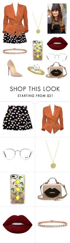 """Sem título #1553"" by mahceinha ❤ liked on Polyvore featuring Thierry Mugler, Michele, Ray-Ban, David Yurman, Casetify, Lime Crime, Tiffany & Co. and Christian Louboutin"