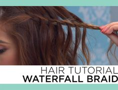 Hair Tutorial ~ Waterfall Braid.