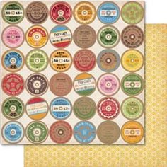 Counterfeit Kit Challenge: Tutorial: Vintage Thread Spool Labels