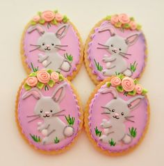 12 Vegan Bunny Sugar Cookies