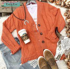 Pumpkin Spice Sweater Cardigan – Ruby Rue Jewelry & Accessories