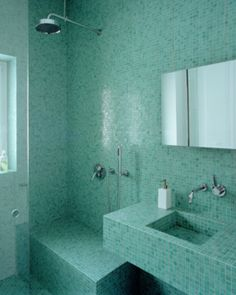 No Space Too Small: Small Bathroom Photo Ideas: One Color Can Be Enough