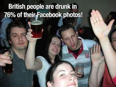 British people and Facebook