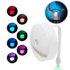 Geek | Toilet Night Light Motion Activated Illuminated Bowl Bathroom LED Color Sensor (Size: Toilet Light)
