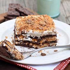 No-Bake Butterfinger Ice Box Cake
