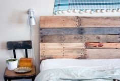 Just love this! Reclaimed Wood Headboard and Footboard Made to Order.