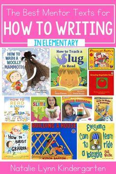 Writing Mentor Texts, Procedural Writing, Writing A Book, Kindergarten Writing, Teaching Reading, Literacy, Tornado In A Bottle, Writing Mini Lessons, Beginning Reading