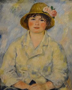 Pierre Auguste Renoir - Portrait of Madame Renoir, 1885 at the Museum of Art Philadelphia PA | Flickr - Photo Sharing!