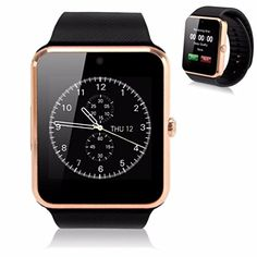 GT08 Touch Screen Slot Push Message Bluetooth Mate Smart Watch For Android Phone---Gold Black   Package Includes: 1 PCS GT08 Smart Watch. 1 PCS Manual. 1 PCS USB Cable 1 PCS Retail Package Specification: Product: Smart (BT) Watch CPU: MTK6260A; Storage