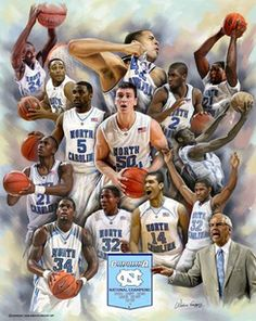UNC Basketball posters | North Carolina Basketball 2009 Roys Boys Collage Poster by Wishum ...