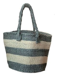 These handwoven Fair-Trade sisal bags have been crafted by skilled female weavers in Kenya. Sisal fibre is incredibly tough, so you can stuff this tote full of goodies time and time again.These totes are the perfect carryall , not too large, they are sturdy and stylish all in one.