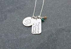 Together we make a family.  Mother's Day gift idea with kiddos birthstones.     www.klacustomcreations.etsy.com
