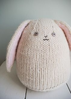 the cutest bunny with floppy ears (I love the pom pom tail!) by rae