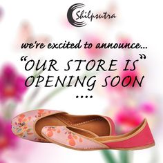 We are happy to announce our new store is opening soon with more exclusive offers and discounts. Stay in touch, by visiting our website @ www.shilpsutra.com #newstore #Shopping #Opening