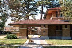 Allen-Lambe House. 1915. Wichita, Kansas. Prairie Style. Frank Lloyd Wright