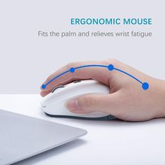 TopMate M21 Wireless mouse adopts a mute button and has a service life of >3 million times. Mouse power consumption is very low, and only one AA battery is needed to supply power. Laptop Cooling Pad, 4g Wireless, Mac Os, Smart Tv, Ergonomic Mouse, Abs, Times, Button, Crunches