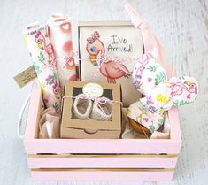 Baby Girl Gift Basket Organic Baby Clothes Butterflies and Baby Girl Gift Baskets, Baby Shower Gift Bags, Baby Girl Gifts, Baby Boy, Organic Gift Baskets, Wine Gift Baskets, Basket Gift, Handmade Gift Tags, Personalized Baby Gifts