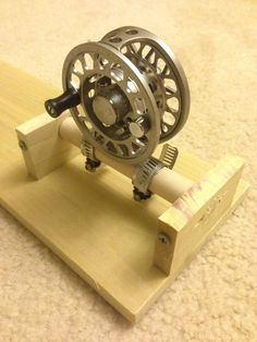 Tight Lined Tales of a Fly Fisherman: DIY.Reel Spooling Station Tight Lined Tales of a Fly Fisherman: DIY. Fishing Line Spooler, Fly Fishing Gear, Fishing Rigs, Fishing Knots, Fishing Bait, Best Fishing, Trout Fishing, Fishing Tackle, Fishing Stuff