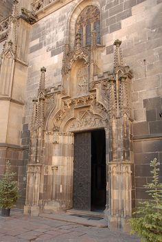 Beautiful church entrance, Slovakia