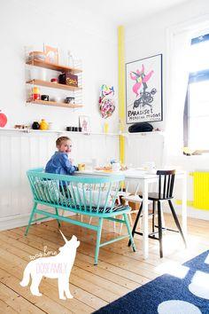 klara ripa´s kitchen photos by jenny brandt, dosfamily. Spring kitchen in yellow turquoise black and white