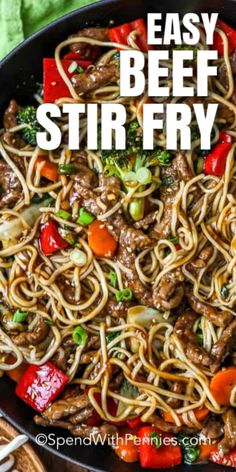Beef Recipes For Dinner, Meat Recipes, Asian Recipes, Cooking Recipes, Healthy Recipes, Ethnic Recipes, Healthy Food, Teriyaki Beef Stir Fry, Kitchens
