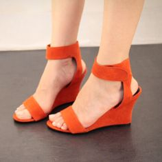 2014 new women's wedges sandals mixed Pu leather shoe lady's high-heeled shoes woman fashion  pumps size 35-39  5 $85.00