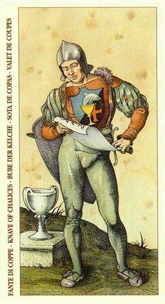Page of Cups - Albrecht Dürer Tarot (2002) by Giacinto Gaudenzi