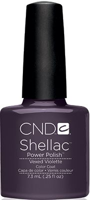 CND Shellac-- Vexed Violette  Deep and Dusty Purple, very grey too