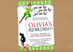 Peter Pan Birthday by MrsCdesigns on Etsy, $2.00