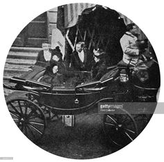 The last photograph of Queen Victoria, December 13th, 1900. The Queen (1819-1901) visiting the Irish Industries Exhibition at Windsor Town Hall. (Photo by The Print Collector/Print Collector/Getty Images)