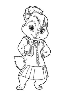 Does your kid like the chipmunks called Alvin, Simon & Theodore? Now you can give your kid these fun free & printable Alvin and the Chipmunks coloring pages Coloring Sheets, Adult Coloring, Coloring Books, Colouring, Alvin Und Die Chipmunks, Disney Drawings, Art Drawings, Female Movie Characters, Native American Pictures