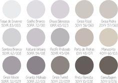 paleta Coral 50 tons de cinza: