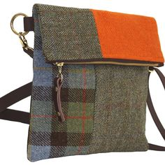 Explorer Harris Tweed Messenger Bag – Montage, Catherine Aitken