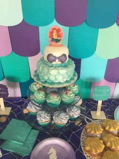 Fantastic cake at a mermaid birthday party! See more party ideas at CatchMyParty.com!
