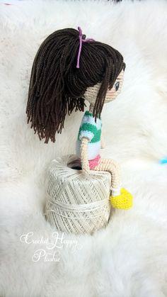 This is Chihiro from Spirited Away. :) #amigurumi art doll. www.crochetdrama.etsy.com www.facebook.com/crochethappyplushie  #anime #ghibli