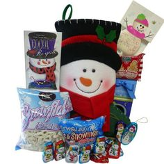 Frosty can't wait to deliver your sweetest holiday wishes this year! #christmas #holidays #gift #basket www.artofappreciation.com