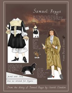 samuel pepys * 1500 free paper dolls at Arielle Gabriels The International Paper Doll Society also free Asian paper dolls at The China Adventures of Arielle Gabriel *