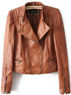 Shop Khaki Long Sleeve Crop PU Leather Jacket online. Sheinside offers Khaki Long Sleeve Crop PU Leather Jacket & more to fit your fashionable needs. Free Shipping Worldwide!